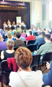 A packed Town Hall at Glastonbury to hear about the potential for renewable energy in the South West