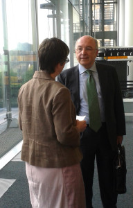 Molly meets Mr Joaquín Almunia, the European Commissioner in charge of state aid
