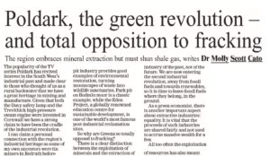 An alternative title: Poldark, the green revolution - and total opposition to fracking