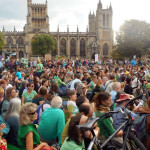 Hundreds marched in Bristol to demand action on climate change and clean energy